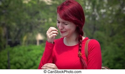 Tearful Young Teen Girl Crying