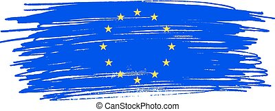 European Union flag. Vector illustration .