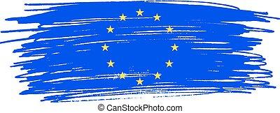 European Union flag. Vector illustration .