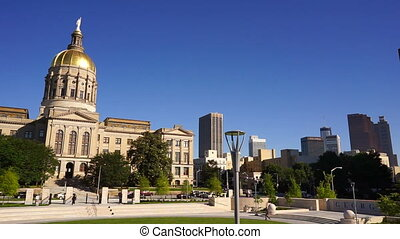 Atlanta Georgia State Capital Gold Dome City Architecture -...