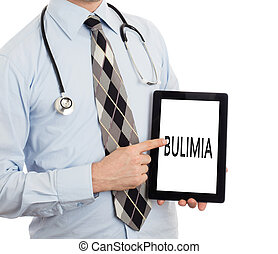bulimia,  -, tenencia, tableta,  doctor