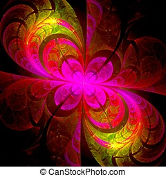 Crazy abstract background - Abstract crazy psychedelic...