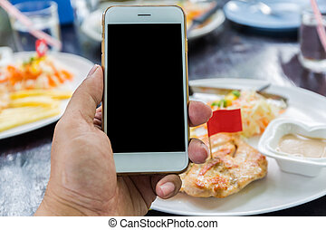 Close up of a woman using mobile smart phone - Close up of a...