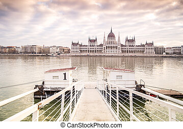 Parliament in Budapest, capital city of Hungary