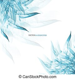 Abstract  background with ice flower