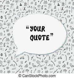 Quote card funny design with lifestyle pattern.