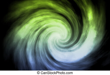 Alien Abstract Vortex Background