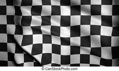 Checkered Flag Close-up. - Looping animation of a checkered...