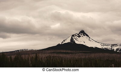 Mt Washington Big Lake Oregon Cascades Stormy Weather -...