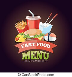 vector illustration for fast food menu