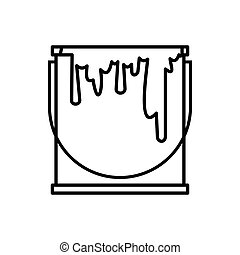 Paint can icon, outline style - Paint can icon in outline...