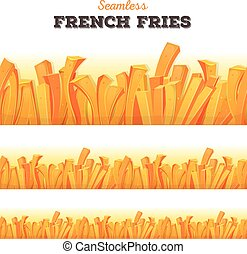Seamless French Fries Background