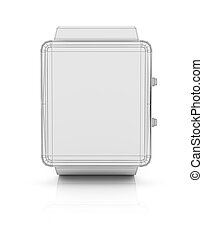 Smart watch new technology electronic device. 3D...