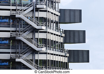 Fragment of a modern building Modern architecture design in...