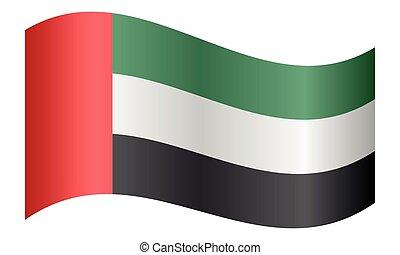 Flag of the United Arab Emirates waving