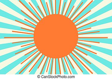 Sun on the sky background