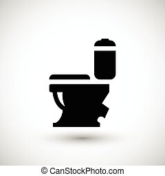 Modern toilet icon isolated on grey. Vector illustration