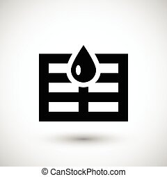 Sewerage system icon isolated on grey. Vector illustration