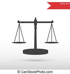 Scales of Justice Black icon vector and jpg Flat style...