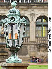 Old lantern in Zwinger Palace . - Old lantern on the Zwinger...