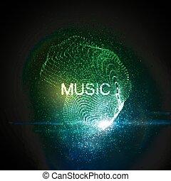 Music neon sign.