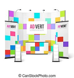 Exhibition Stand Bright Design Exhibition Stand Color...