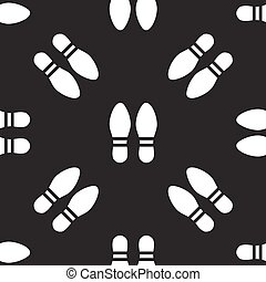 seamless pattern with foot print