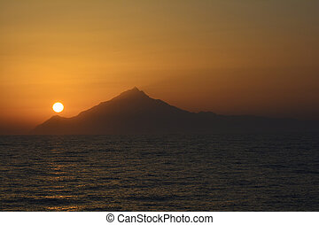 Greece, Sundown - Greece, sundown on Mount Athos