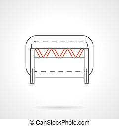 Traffic barrier flat line vector icon - Street boundary or...