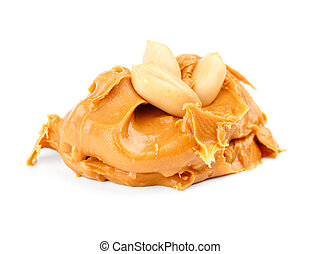 Peanut butter spread isolated