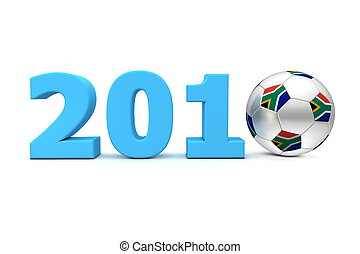 Football Year South Africa 2010 - Blue - blue date 2010 with...
