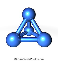 Molecule Structure Blue - simple blue metallic molecular...