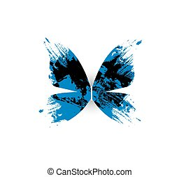 Abstract butterfly on white background