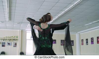 Professional dancers dancing in ballroom, 4k - Professional...