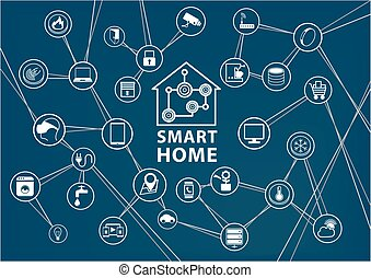 Smart home automation background