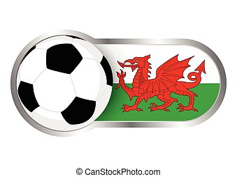 Wales insignia soccer team - Modern icon for soccer team...