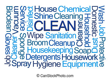 Clean Word Cloud on White Background