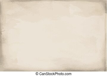 Grunge beige paper watercolor texture, background, surface -...
