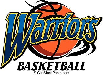 warriors basketball team design with ball for school,...