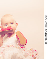 Little girl child portrait - Lovely little child girl in...