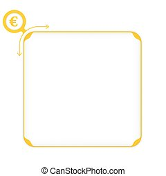 Vector yellow box to fill your text and euro symbol