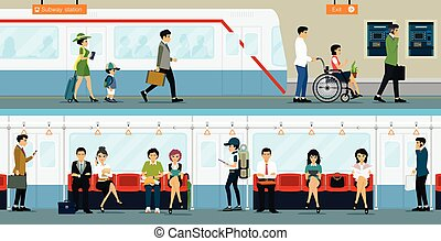 subway - Workers and people with disabilities to travel by...