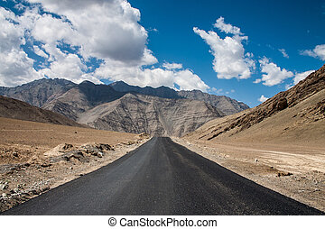 Lonley Road in Ladakh - Lonley Road Ladakh to nubra valley...
