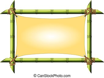 Bamboo frame with stretched canvas
