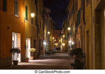 Tuscany town at night