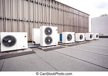 cooling on the roof - different cooling elements of the...