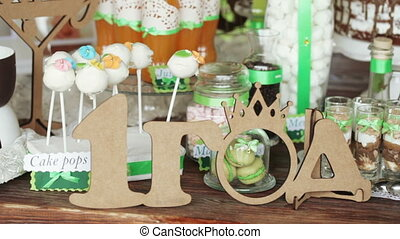 Sweet table for birthday party - Candy bar on...