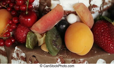Fruit cake on holiday - On children birthday fruit cake