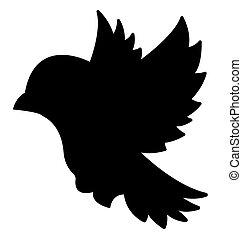 Dove Birds Silhouettes