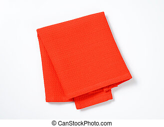 red place mat - Folded red cloth place mat